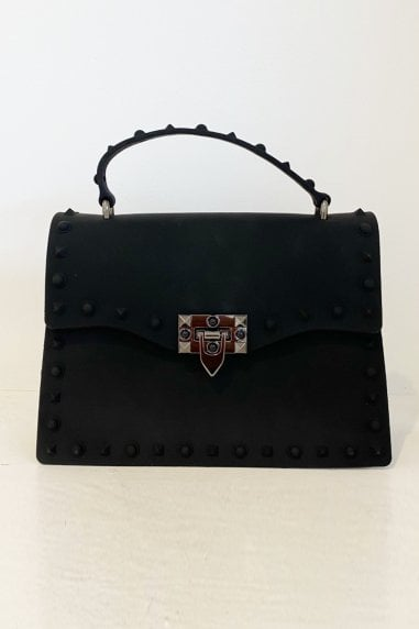 New Fashion Rivet Small Square Bag Handbags In Black