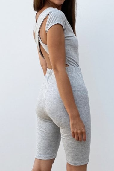 Outrageous Fortune Loungewear Cross Back Body In Grey