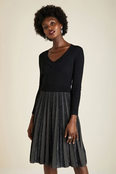Black Knitted Party Dress