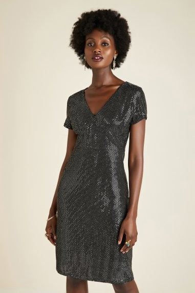 Silver Sequin Tunic Dress