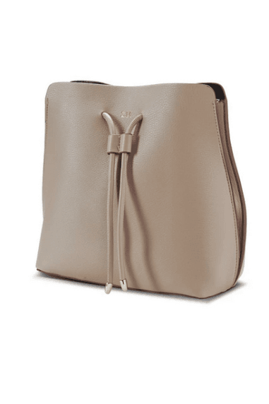 Beige Vegan leather slouchy bag