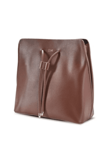 Coffee Brown vegan Leather Slouchy Bag