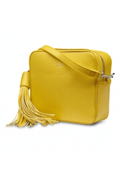 Neon Yellow Vegan Leather Cross Body Bag