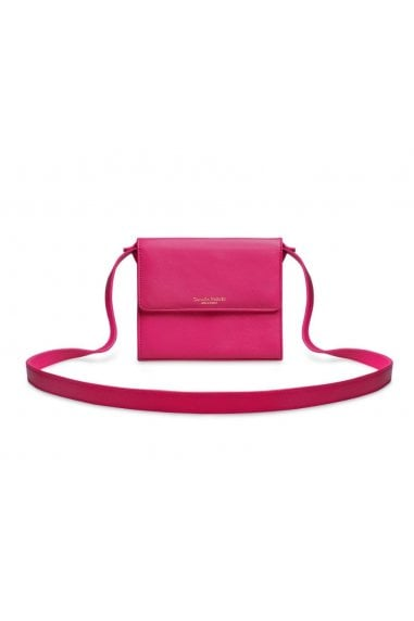 Pink Leather Cross Body Bag