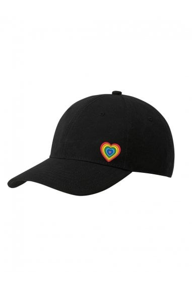 Rainbow Black Six Panel Baseball Cap