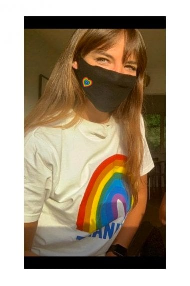 Black Small Rainbow Face Mask / Soft Touch For Adults -Pack of 10