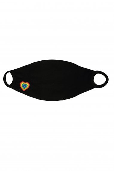 Black Small Rainbow Face Mask / Soft Touch For Kids -Pack of 20
