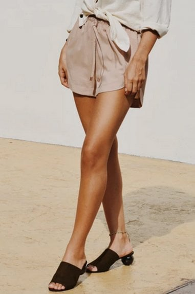 Ararose Clothing - Muted Blush Shorts