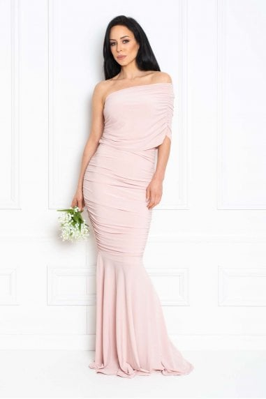 Alice Blush Pink Fishtail Maxi