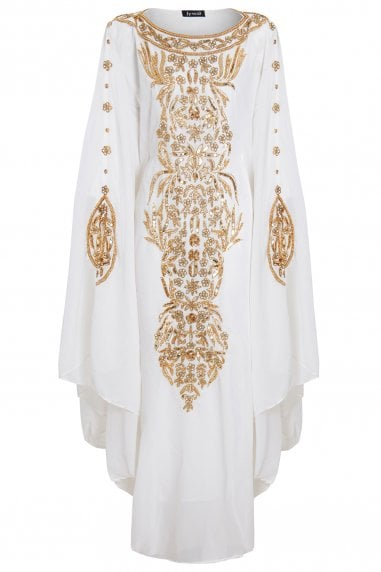 EMBELLISHED KAFTAN MAXI DRESS