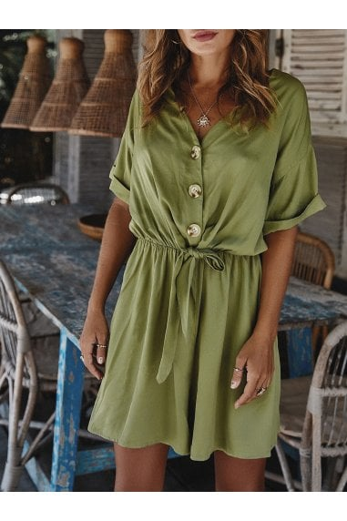 Playsuit In Khaki