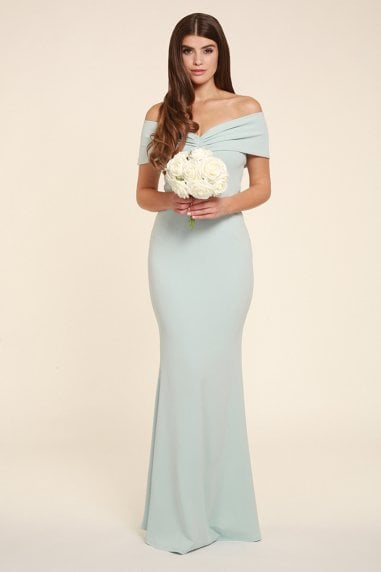 Mila Mint Multi Way Bardot Maxi Dress