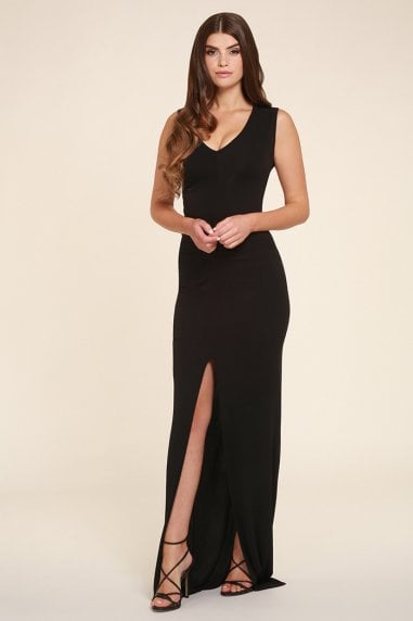 Jessica Black Maxi Dress Sleeveless