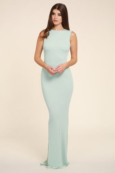 Bella mint sleeveless maxi dress