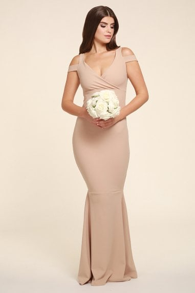 EVIE BEIGE MAXI WITH FISHTAIL