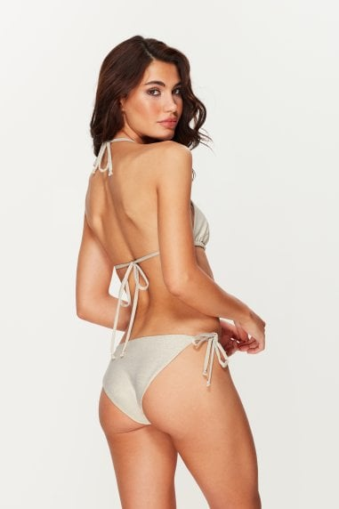 Coconut Shimmer Tie Side Bottoms