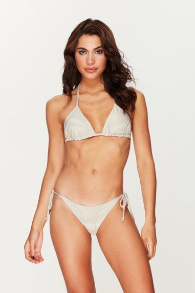 Coconut Shimmer Triangle Bikini Top