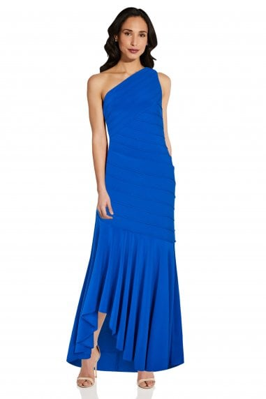 Jersey Pintuck Gown In Blue Sapphire
