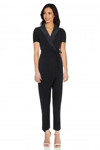 Crepe Suit Jumpsuit In Midnight