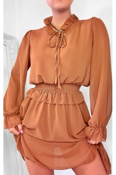 Dionne Frill Mini Dress