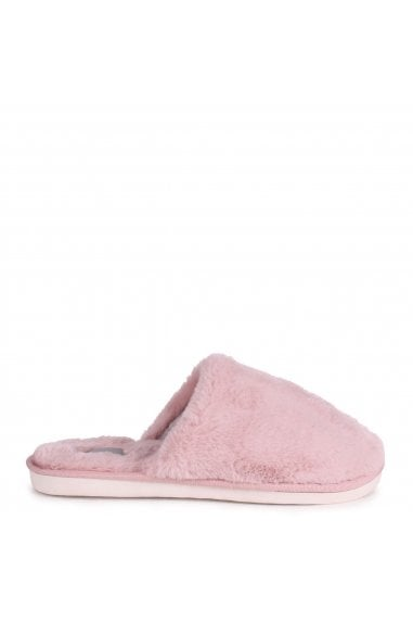 ZERO - Pink Fluffy Closed Toe Slippers