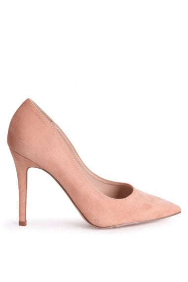 DYNAMIC - Nude Suede Stiletto Pointed Court Heel