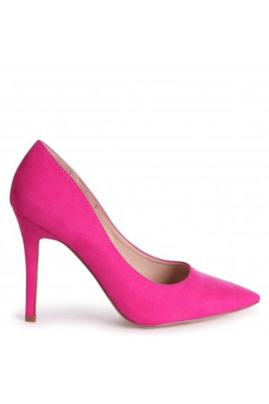 DYNAMIC - Hot Pink Suede Stiletto Pointed Court Heel