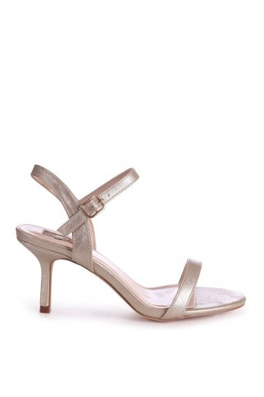 LILA - Gold Small Barely There Heeled Sandal