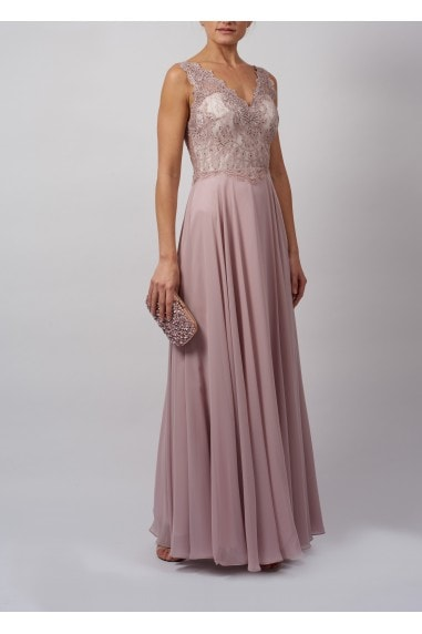 SOFT LACE DETAILED MAXI DRESS