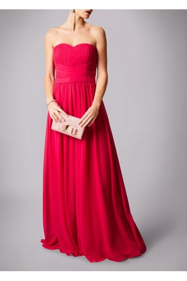 SWEETHEART WRAPPED WAIST MAXI DRESS