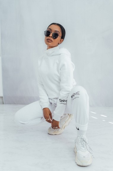 Essential Cropped Hoodie - White