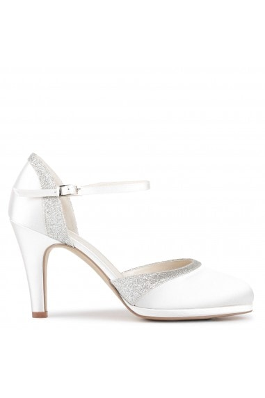 Satin 'Almeria' High Heel Court Shoes