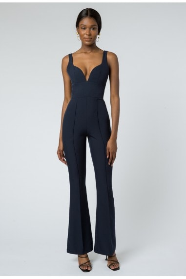 Barbarella Structured Jumpsuit - Navy