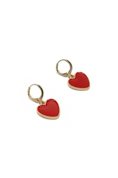 Red love earrings