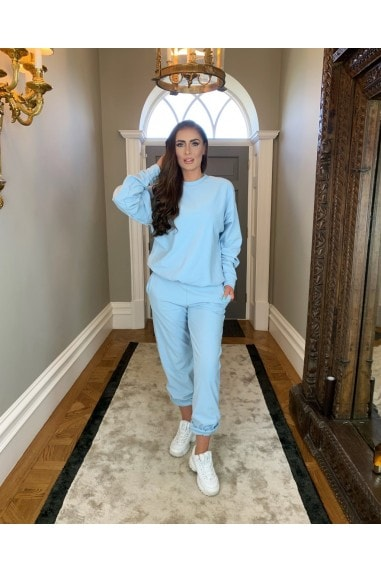 Carrie' Sky Blue Sweat Pants