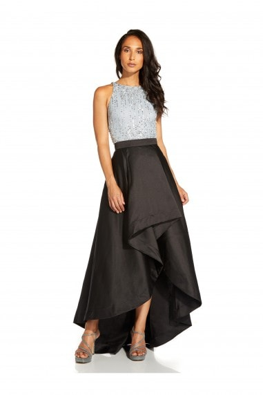 Mikado Highlow Skirt In Black