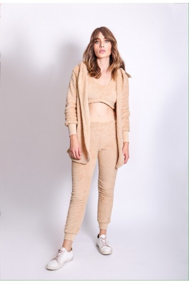 Camel Three Piece Lounge Teddy Co-Ord