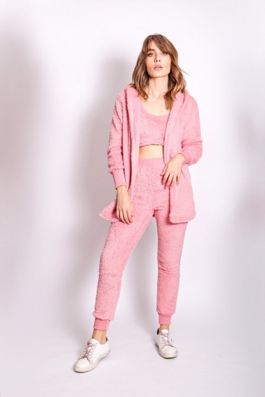 Pink Three Piece Lounge Teddy Co-Ord