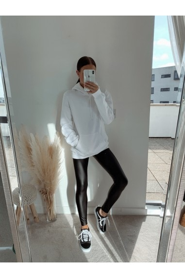 Black PU Leggings
