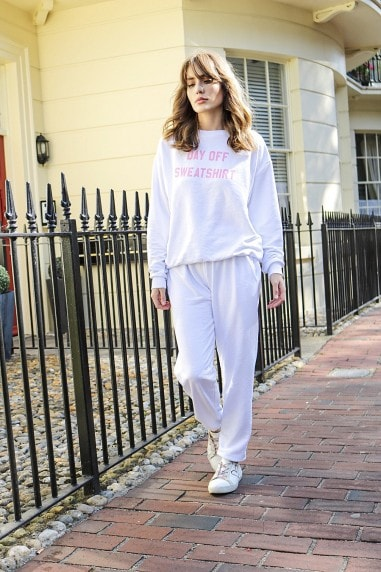 White Jogger Loungewear Co-ord