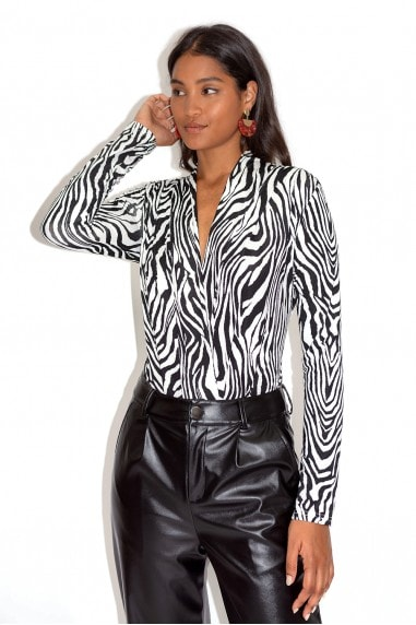 Black & White Zebra Print Bodysuit