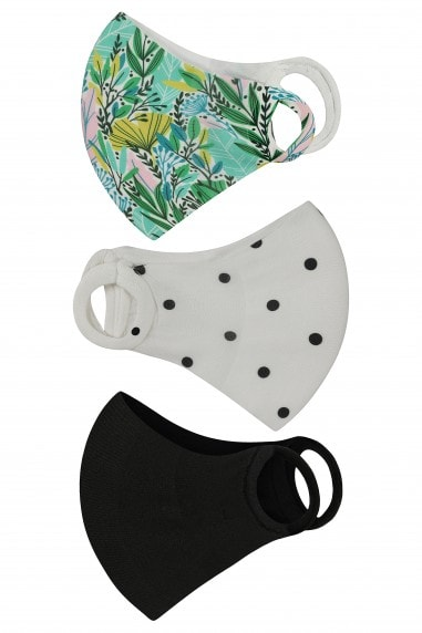 Mixed Print 3 Pack Mask Face Coverings