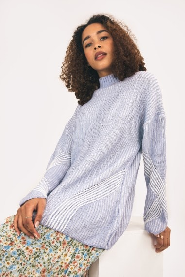 Rosa High Neck Jumper