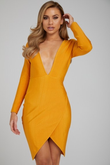 The 'Ava' Orange Bandage Dress