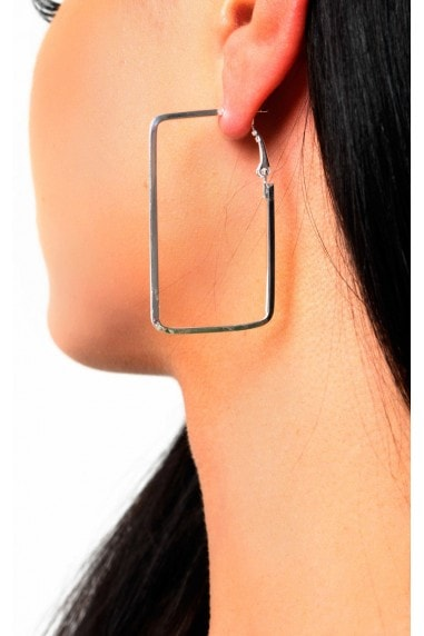 Layla Square Hoop Earrings