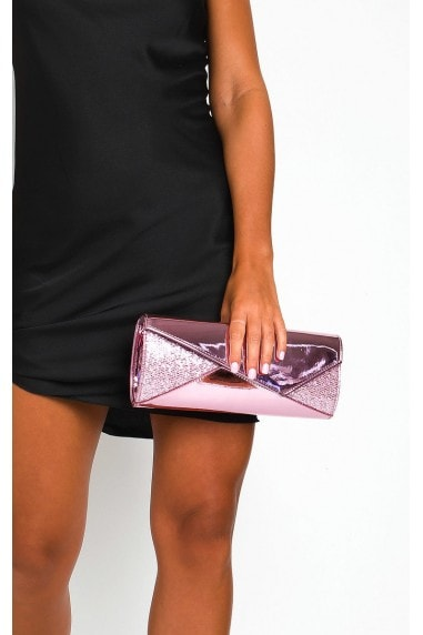 Verity Sequin Contrast Clutch Bag