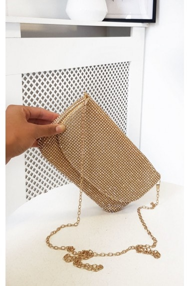 Maria Diamante Chainmail Pouch Shoulder Bag