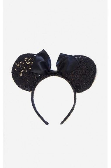 Minnie Sequin Embellished Mouse Ears Headband