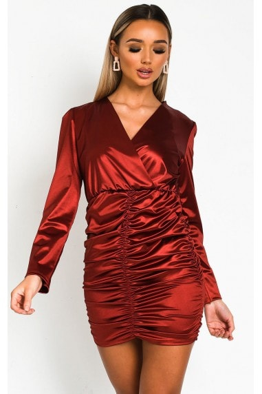 DeirDress Satin Mini Dress