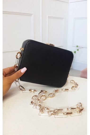 Nic Faux Leather Box Clutch Bag
